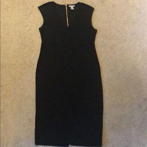 Black fitted Midi H&M Dress